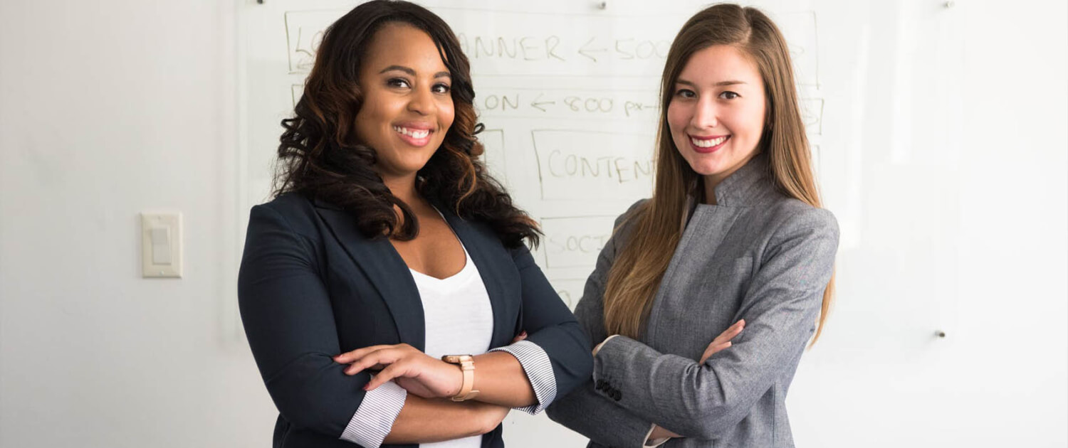 two equity investment women smiling