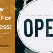 Now open for business - 5 tips for a successful reopening. Open sign