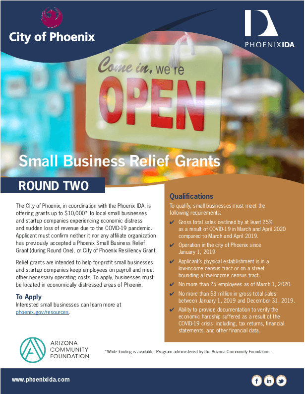 Small Business Relief Grant Round Two Flyer