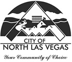City of NLV logo black on white background