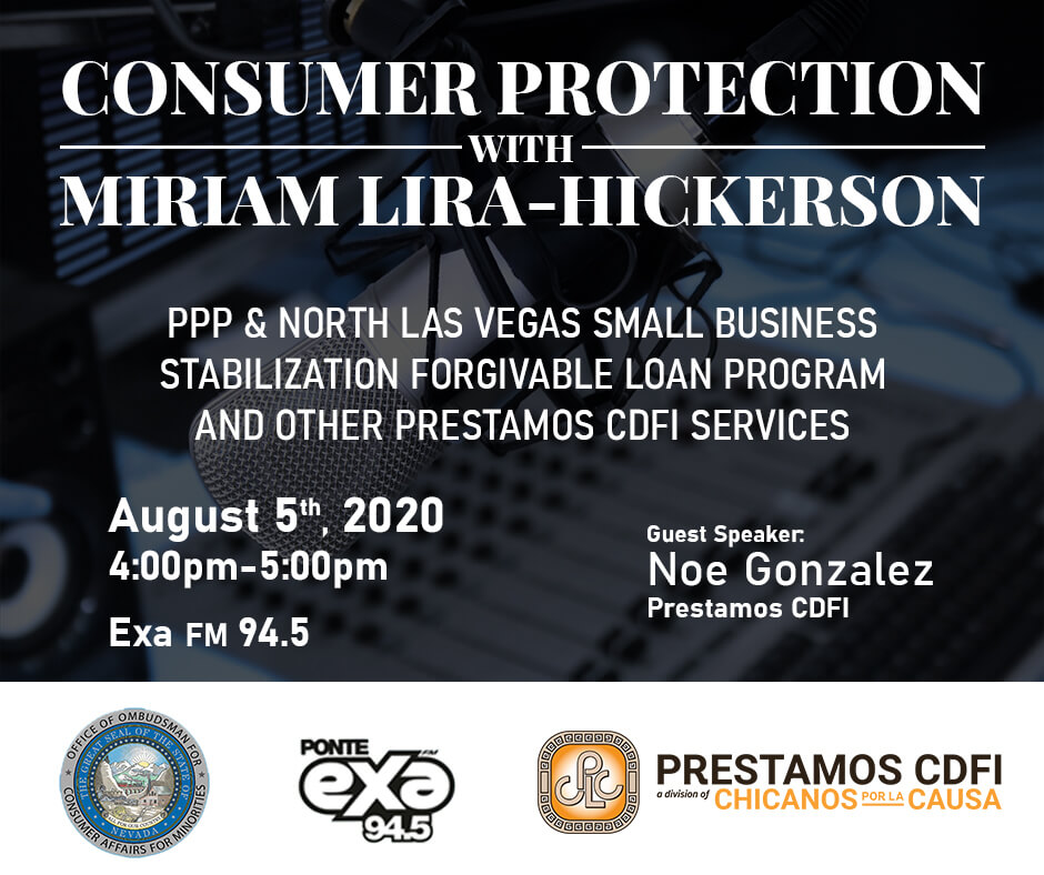 Flyer: consumre protection with miriam lira-hickerson