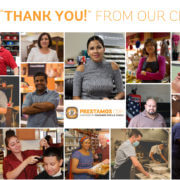 A big thank you from our clients - many Prestamos Clients in a grid