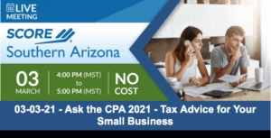Ask the CPA 2021 – Tax Advice for Your Small Business