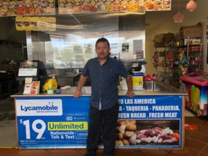 Las Americas Owner in his small business