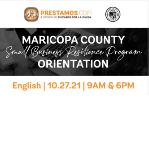 Maricopa County Small Business Resilience Program Orientation