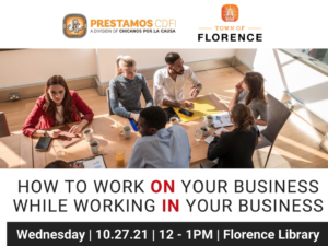 How to work on your business while working in your business @ Florence Library